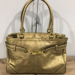 Authentic Coach patent leather satchel